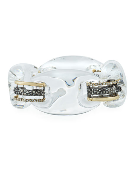 Alexis Bittar Clear Lucite Soft Link Bracelet