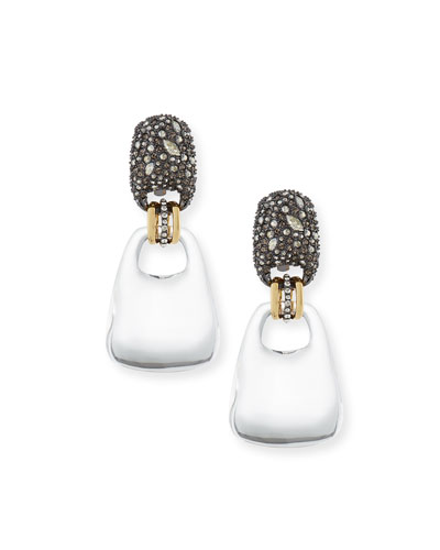 Encrusted Swinging Clip-On Earrings