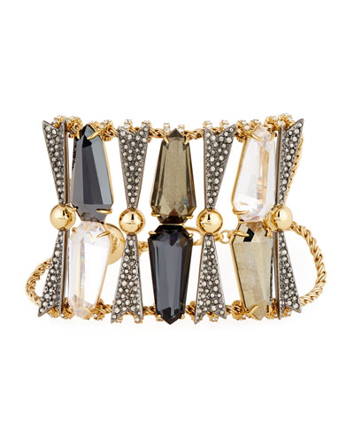 Wide Elongated Mixed Bracelet
