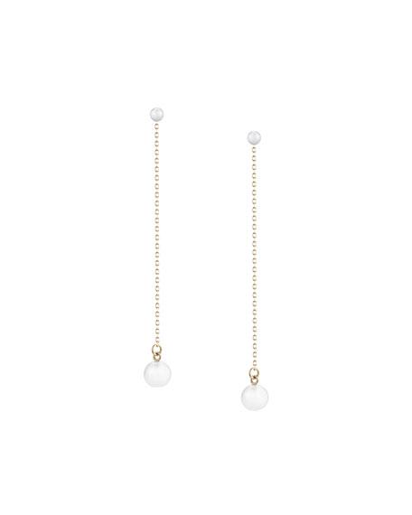 Mizuki Double-Pearl Chain Drop Earrings wbfAMph