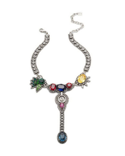 Diana Multicolor Crystal Statement Necklace