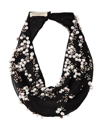 Harper Beaded Scarf Necklace