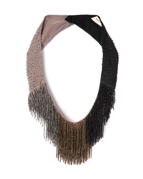 Mignonne Gavigan Petite Le Marcel Beaded Fringe Necklace