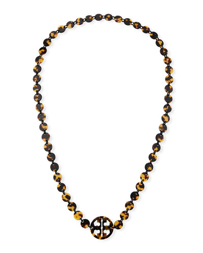 Long Tortoise Logo Necklace