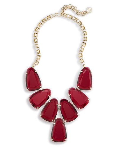Harlow Statement Necklace, Red