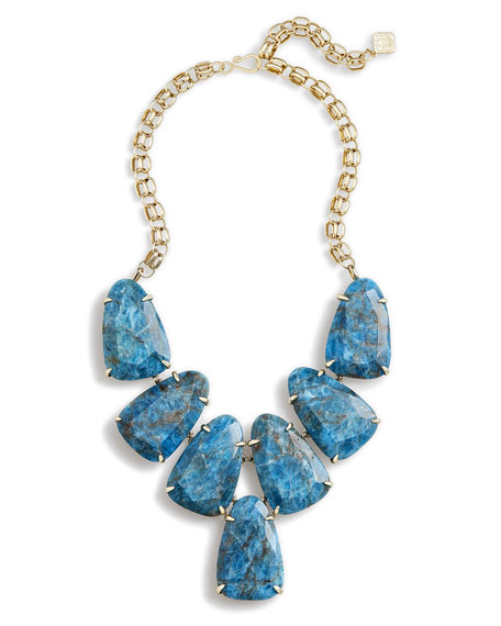 Harlow Statement Necklace, Blue