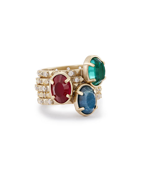 Kendra Scott Darci Crystal Stacking Rings