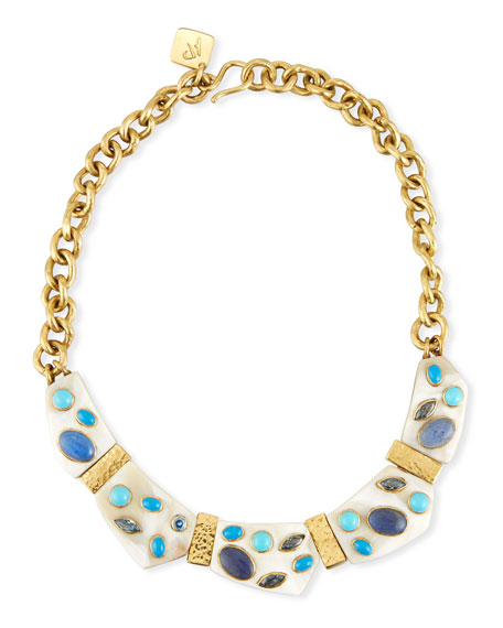Ashley Pittman Jasiri Light Horn Collar Necklace