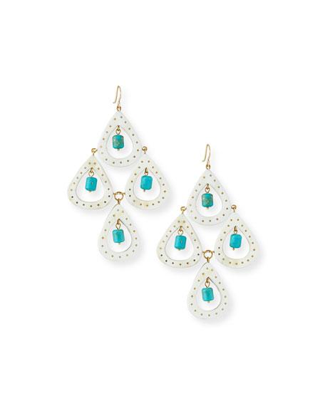 Jasiri Light Horn Tiered Drop Earrings