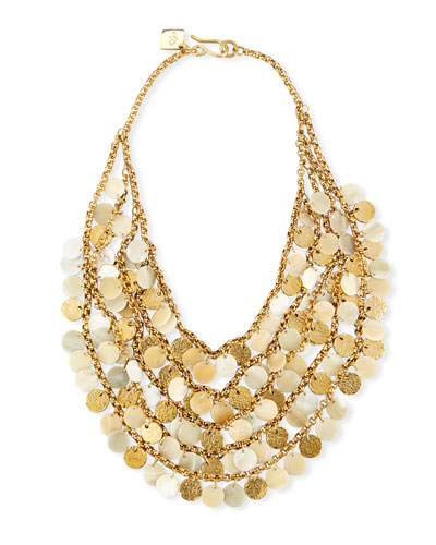 Jamaa Light Horn Bib Necklace