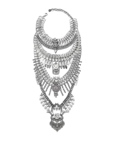 Falkor VII Crystal Statement Necklace
