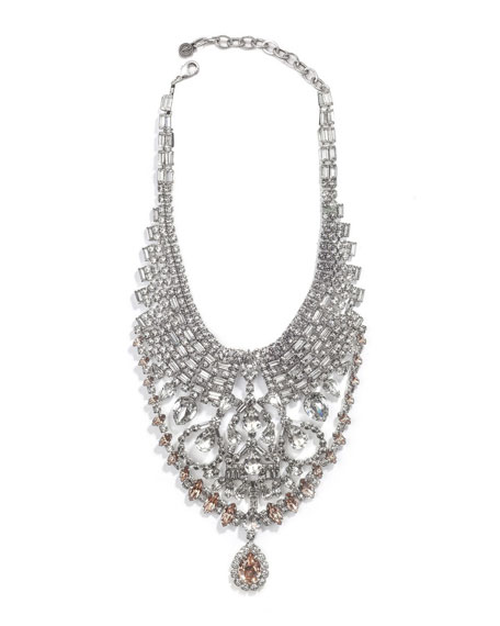 Gambino Crystal Statement Necklace