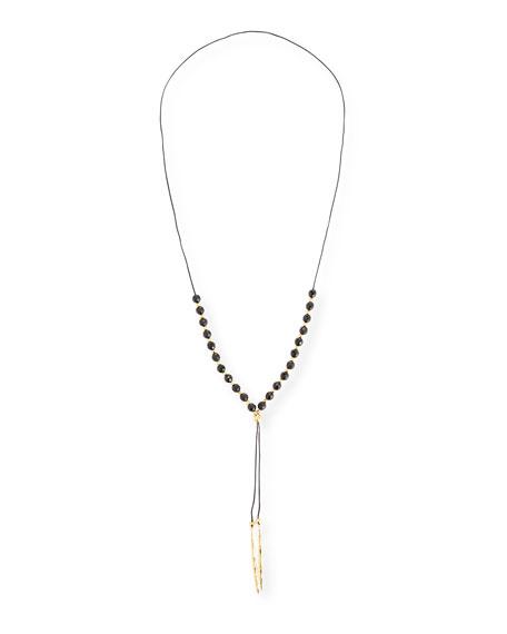 gorjana Power Gemstone Black Onyx Bead Necklace