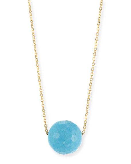 Power Gemstone Turquoise Bead Necklace