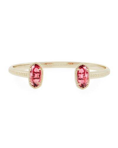 Elton Statement Bracelet, Red