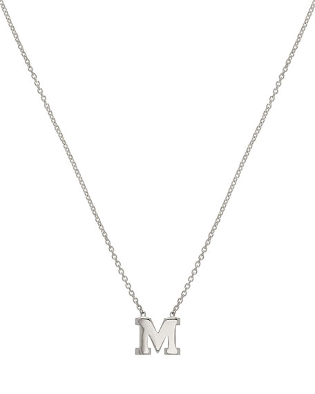 Regin Personalized Initial Pendant Necklace in 14K White Gold