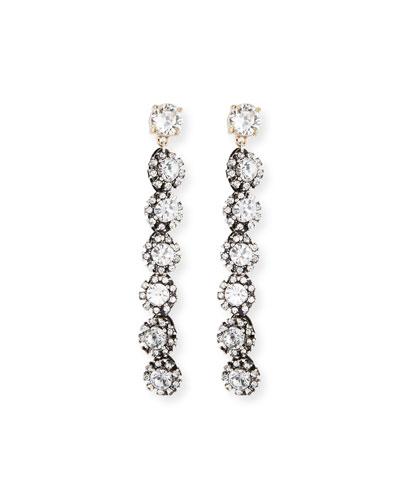 Royale Linear Crystal Drop Earrings