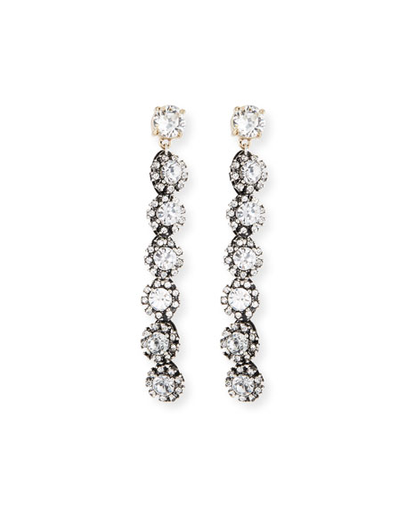 Royale Linear Crystal Drop Earrings