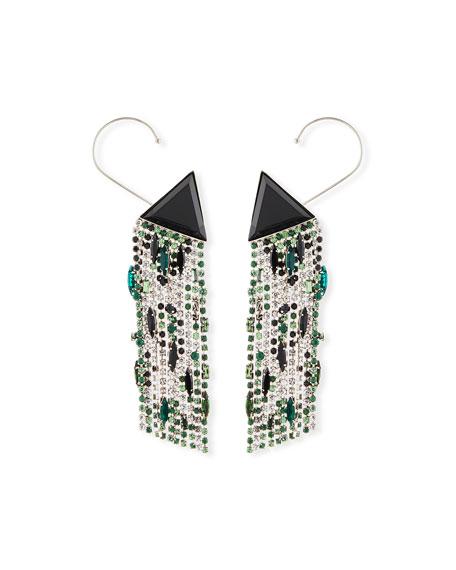Triangle Dangle Crystal Earrings