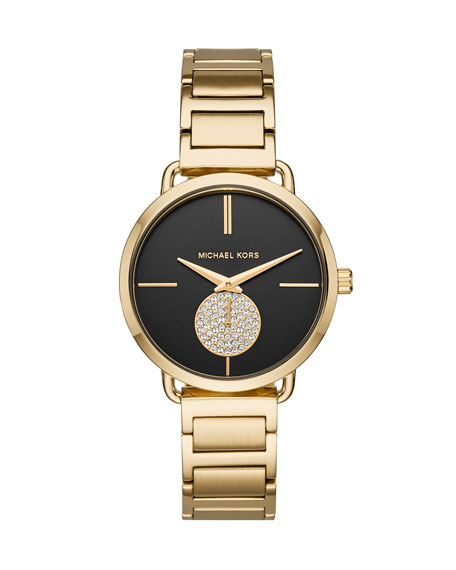 Portia Yellow-Golden H-Link Watch