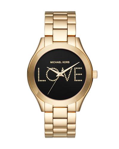Sim Runway Love Yellow-Golden Bracelet Watch