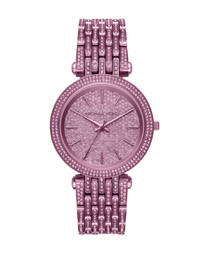 Darci Purple IP Bracelet Watch with Crystals
