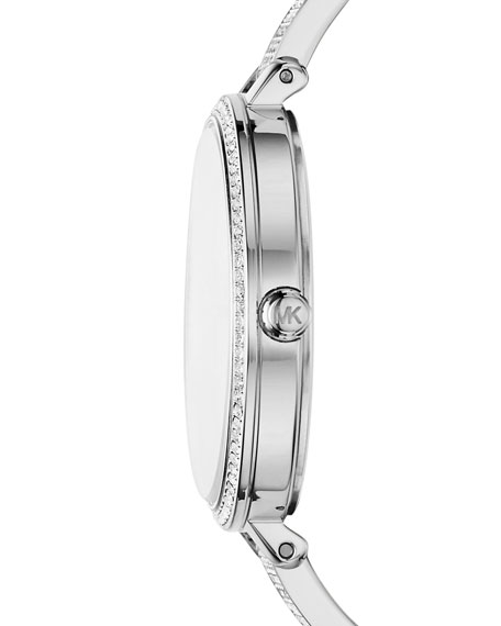 Jaryn Stainless Steel Crystal Bangle Watch