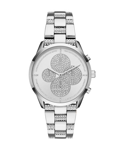 Slater Stainless Steel Crystal Chronograph Watch