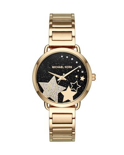 Portia Star Yellow-Golden Bracelet Watch