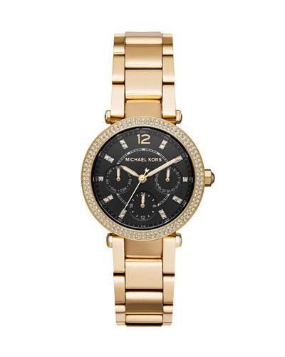 Mini Parker Yellow-Golden Chronograph Watch