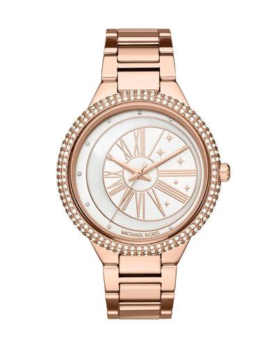 Taryn Celestial Rose-Golden Bracelet Watch