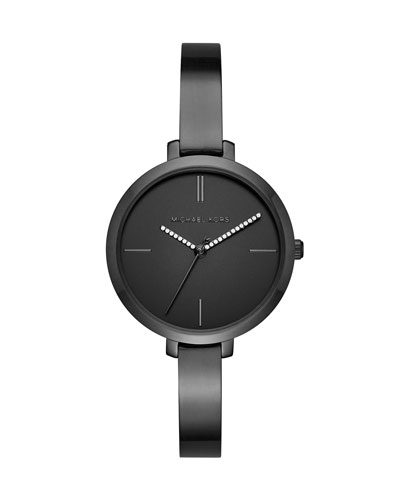 Jaryn Black IP Bangle Watch