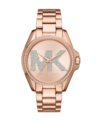 Bradshaw Rose-Golden Logo Bracelet Watch