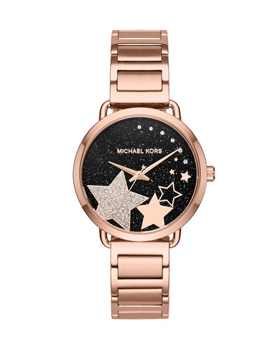Portia Star Rose-Golden Bracelet Watch