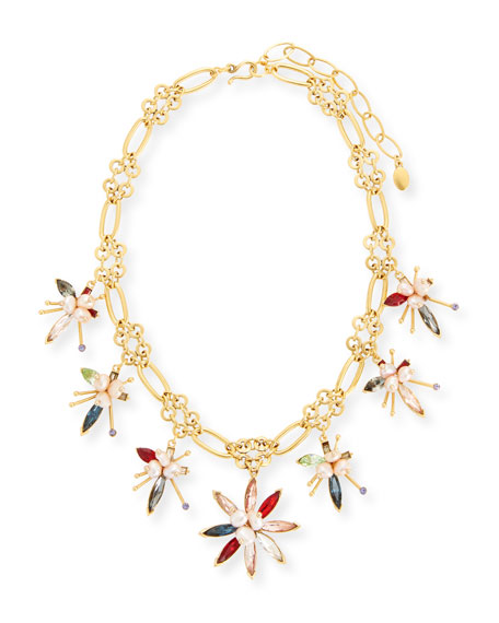 Marquis Crystal Flower Necklace