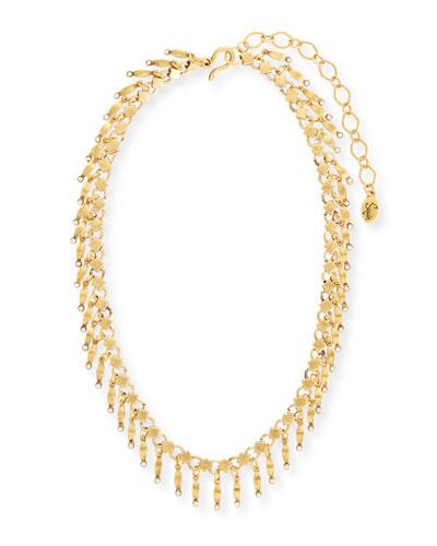 Golden Dangle Statement Necklace