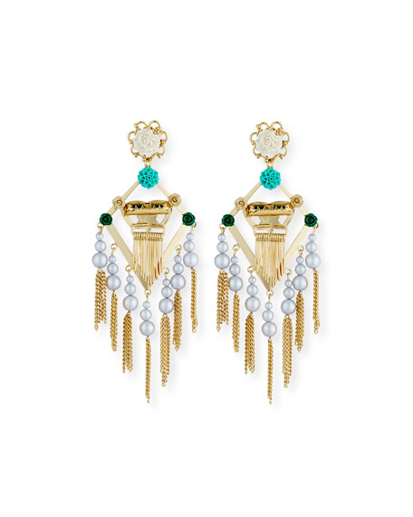 King Statement Earrings