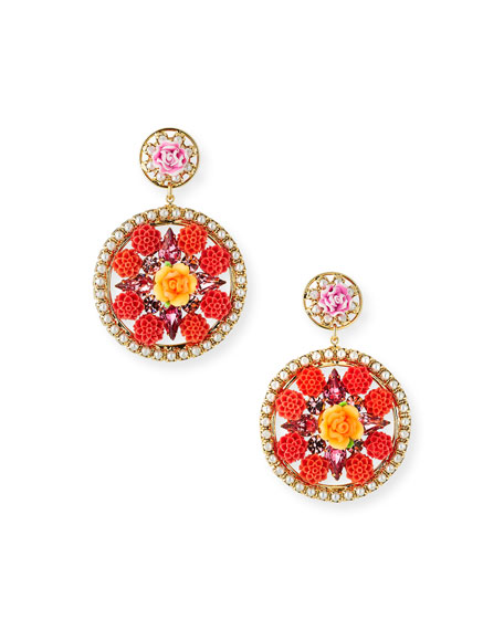 Dannijo  MADDIE FLORAL STATEMENT EARRINGS