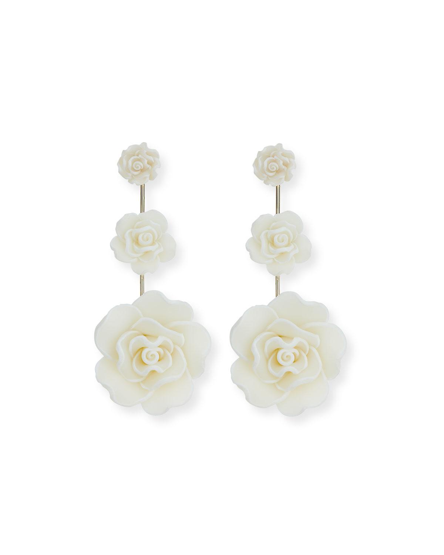 Dannijo Beck Triple Flower Drop Earrings PepJmOwVqN