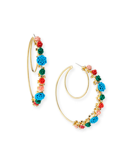 Dannijo  PILLAR STATEMENT HOOP EARRINGS