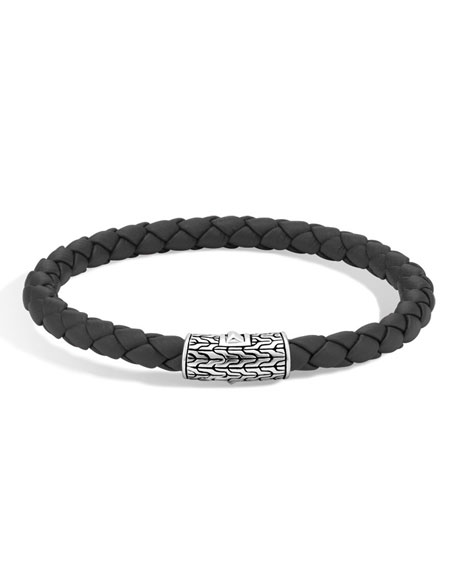 John Hardy Classic Chain Silver Round Woven Bracelet