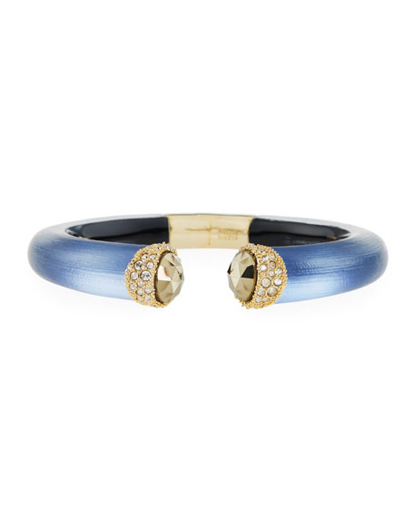 Alexis Bittar Crystal Brake Hinge Lucite Bangle, Blue