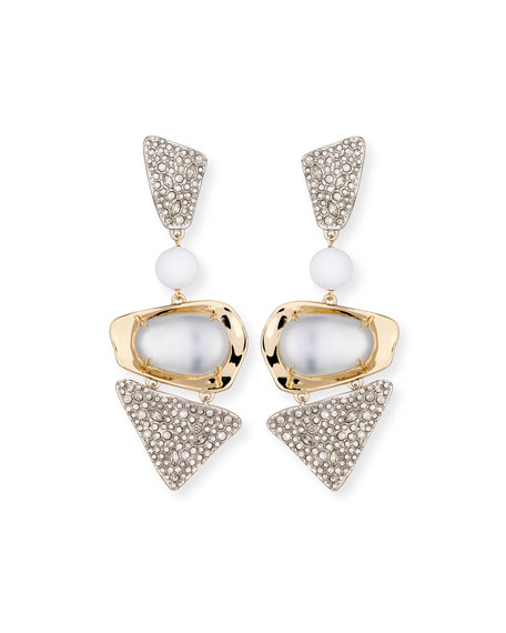 Alexis Bittar Crystal-Encrusted Powdercoat Clip-On Earrings