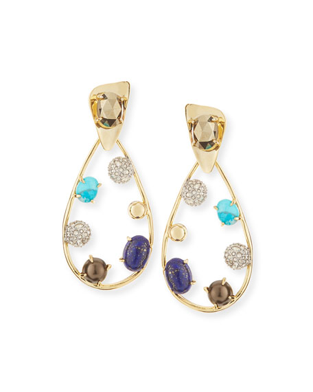 Alexis Bittar Crystal Teardrop Earrings