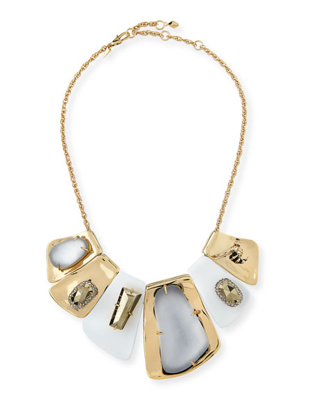 Alexis Bittar Large Articulated Bib Necklace