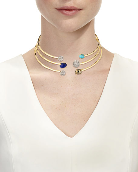 Orbiting Crystal Collar Necklace