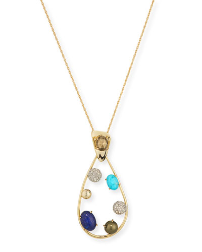 Crystal Teardrop Pendant Necklace