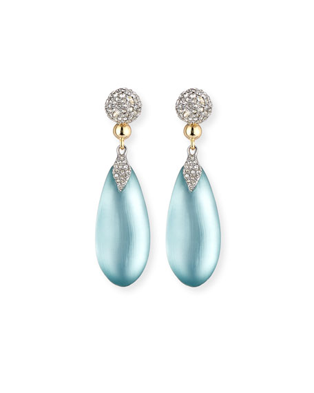 Pavé Crystal & Lucite® Teardrop Earrings