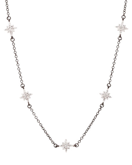Tiny Star Station CZ Stones Necklace