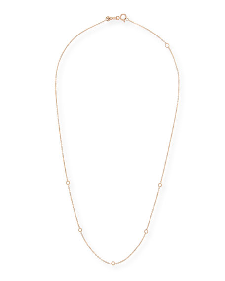 14k Circle-Station Chain Necklace